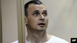 Олег Сенцов у російському суді, фото 2015 року