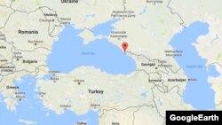 Адлер. Сочи. На карте Черного моря