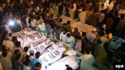 Тіла загиблих у лікарні в Лагорі, 2 листопада 2014 року