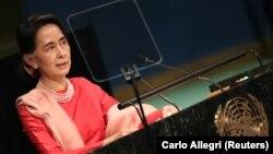 آنگ سان سوچی پیشتر «تروریستها» را عامل انتشار «اخبار دروغ» در مورد مسلمانان روهینگیا دانسته بود.