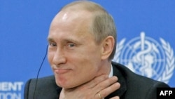 """Russian Prime Minister Vladimir Putin was honored for his """"services to the reliability and stability of German-Russian relations."""""""