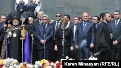 مراسم سالروز «نسل کشی ارامنه» در ارمنستان