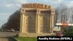 Masallı rayonunun girişi, 2017