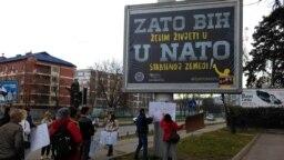 Protest protiv ulaska BiH u NATO, Banjaluka, novembar 2016.