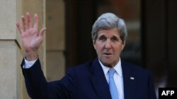 U.S. Secretary of State John Kerry met with top European bankers on May 12 to reassure them about doing business with Iran.