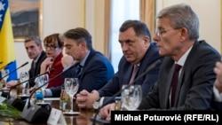 Članovi Predsjedništva BiH Šefik Džaferović, Milorad Dodik i Željko Komšić