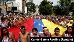 Pamje nga protestat e mëparshme kundër presidentit Maduro në Venezuelë