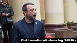 Лидер партии УКРОП Геннадий Корбан. Днепропетровск, 25 октбря 2015 года.