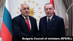 Премиерът Бойко Борисов и президентът на Турция Реджеп Тайип Ердоган. Снимката е архивна.