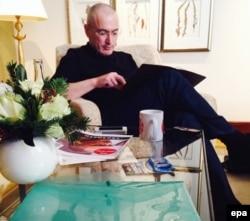 Mikhail Khodorkovsky azadlığa buraxılandan sonra Berlində, 21 dekabr 2013