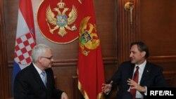 Ranko Krivokapić i Ivo Josipović, danas u crnogorskom parlamentu u Podgorici.