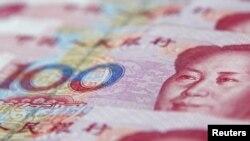 Банкнота номиналом 100 юаней.