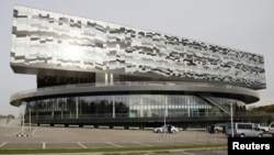 A general view of Skolkovo Management School on the outskirts of Moscow