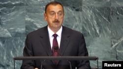 Президент Азербайджана Ильхам Алиев выступает на сессии Генассамблеи ООН, Нью-Йорк, 23 сентября 2010