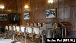 Livadia ,Crimeea 2016: Palatul din Livadia, sala de biliard, locul în care a fost semnată declarația finală a Conferinței de la Ialta, 11 februarie 1945