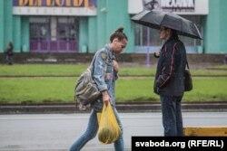 Ілюстрацыйнае фота. Дождж у Менску