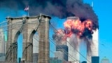 USA -- The second tower of the World Trade Center bursts into flames after being hit by a hijacked airplane in New York in this September 11, 2001 file photograph. Al Qaeda leader Osama bin Laden was killed in a firefight with U.S. forces in Pakistan on M