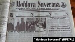 """Întrevedere Elţin-Luchinschi, """"Moldova Suverană"""", 27 februarie 1997"""