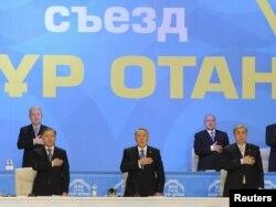 """""""Нұр Отан"""" партиясының съезі. Астана, 11 ақпан 2011 жыл. (Көрнекі сурет)"""