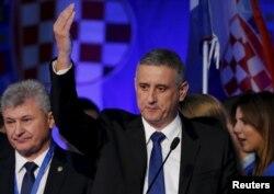 Predsjednik HDZ-a Tomislav Karamarko se obraća pristalicama stranke