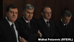 Milorad Dodik, Dragan Čović, Božo Ljubić i Fahrudin Radončić, 29. decembar 2010.