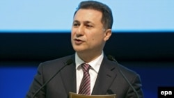 Macedonian Prime Minister Nikola Gruevski (file photo)