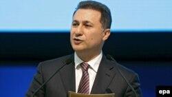 Macedonian Prime Minister Nikola Gruevski (file photo)