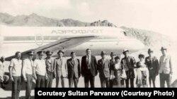 Алгачкы Ош – Мургаб каттамын ЯК–40 учагы аткарган, Тоолуу Бадахшан, Тажикстан, 1983-ж.