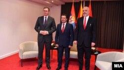 Средба на Зоран Заев, Еди Рама и Александар Вучиќ во Охрид