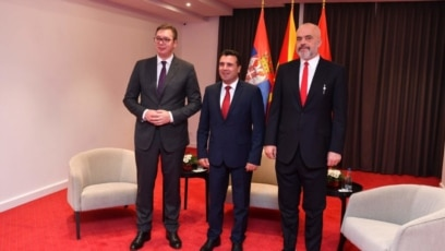 Aleksandar Vučić, Zoran Zaev i Edi Rama u Ohridu