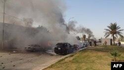 После взрыва автомашины в Киркуке...