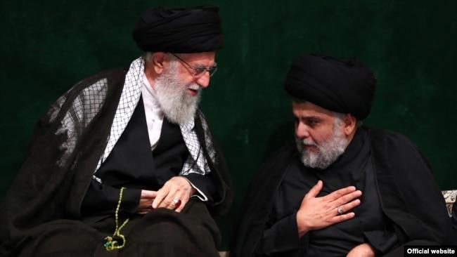 Muqtada al-Sadr greeting Ali Khamenei. September 10, 2019