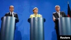 Господинею саміту є канцлер Німеччини Анґела Меркель (у центрі)