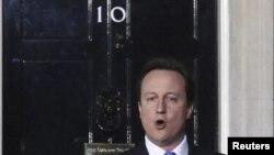 Лидер победившей на выборах консервативной партии Великобритании Дэвид Кэмерон