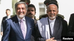 How well can Abdullah Abdullah (left) and Ashraf Ghani work together?