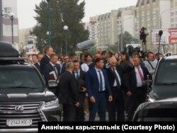 Аляксандар Лукашэнка ў Гомлі