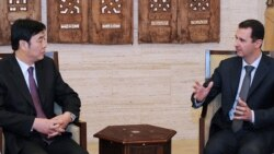 دیدار بشار اسد با معاون وزیر خارجه چین در دمشق.
