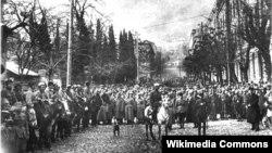 Красная армия в Тбилиси. 25 февраля 1921 г.