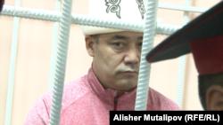 Садыр Жапаров в зале суда. 2 августа 2017 года.