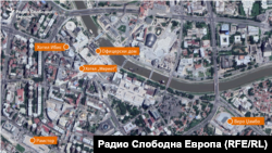 Скопје Мапа - Лоцирани Фирми