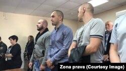 Сотрудники колонии в зале суда. Фото предоставлено РС правозащитной организацией «Зона права»