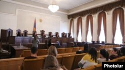 Armenia -- A Constitutional Court hearing in Yerevan, February 11, 2020.