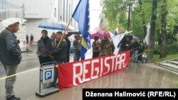 Sa protesta se zahtijeva uspostavljanja registra boraca, Sarajevo