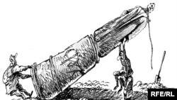 «Стоять, Феликс!» Карикатура Михаила Златковского, 2009 год