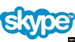 Skype programmasynyň emblemasy.