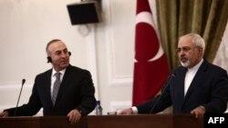 محمد جواد ظریف و مولود چاوش اوغلو، وزير خارجه ترکيه