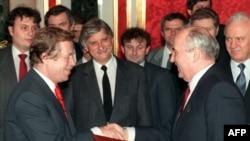 Президент Чехословакии Вацлав Гавел и президент СССР Михаил Горбачев, Москва, 26 февраля 1990 года
