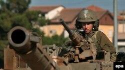 Livanla sərhəddə İsrail tankları, 23 iyul 2006