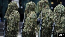 Predstavnici specijalnih jedinica na vojnoj paradi u Bogoti, Kolumbija, fotoarhiv