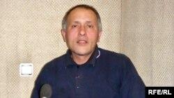 Soin Seydiyev AzadliqRadiosunun Bakıdakı studiyasında, 14 aprel, 2009.